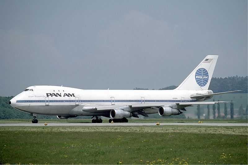 Pan Am Boeing 747 at Zurich Airport in May 1985